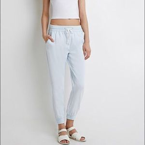 Chambray Joggers Forever 21